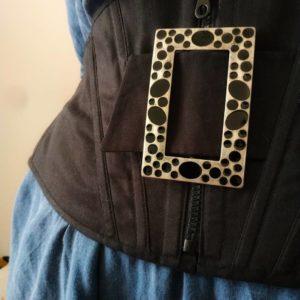 Prototipo Cintura-corsetto coutil nero. Foto CG